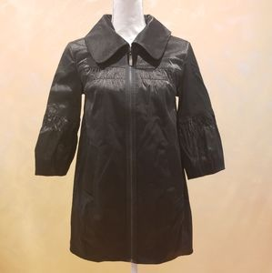 NWOT Kensie Black Satin Collared Jacket
